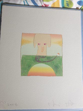 Yoshitomo Nara & Hiroshi Sugito - Over the Rainbow (Elephant) - 2004