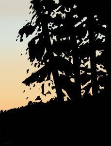 Alex Katz - Sunset 1 - 2020
