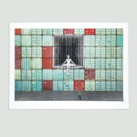 JR - In the container wall, Le Havre, France, 2014 - 2020