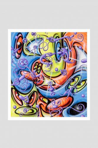 Kenny Scharf -Lingua Amarrada -2020