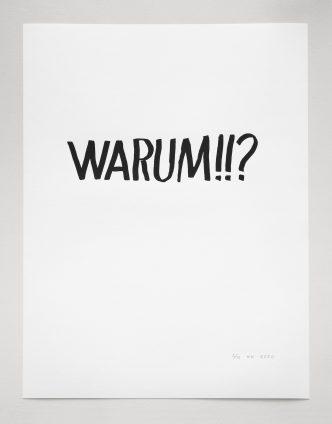 Karl Holmqvist - Untitled (Warum!!?) -2020