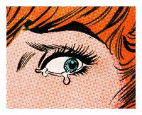 Anne Collier -Woman Crying, Comic (For TzK) - 2020