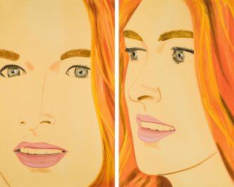 Alex Katz - Ariel 1 & Ariel 2.