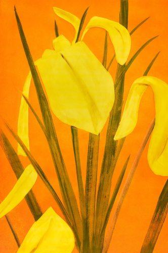 Alex Katz - Yellow Flags 4 - 2021