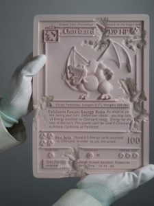 Daniel Arsham - Pink Crystalized Charizard Card - 2021