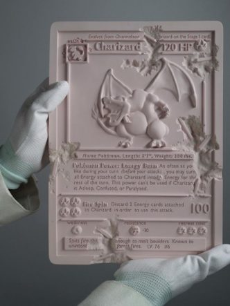 Daniel Arsham - Pink Crystalized Charizard Card - 2021