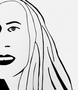 Alex Katz -Ariel 3 (Woodcut) - 2021