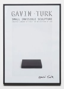 Gavin Turk - The Invisible Sculpture Poster - 2017