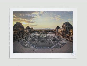 JR au Louvre, 29 Mars 2019, 18H08 © Pyramide, architecte I. M. Pei, musée du Louvre, Paris, France, 2019 - 2021