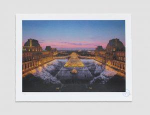 JR au Louvre, 29 Mars 2019, 19h45 © Pyramide, architecte I. M. Pei, musée du Louvre, Paris, France, 2019 - 2021