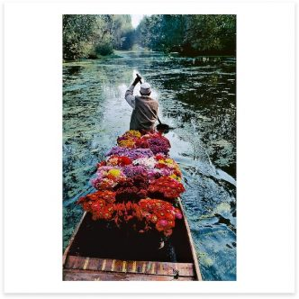 Flower Seller. Dal Lake, Srinagar, Kashmir. 1996.