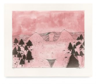 Calvin Marcus - Pink Landscape Girl - 2021