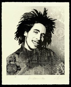 ShepardFairey - Bob Marley 40th, Lively up Yourself - 2021