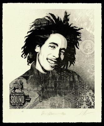 ShepardFairey - Bob Marley 40th, Soul Rebel - 2021
