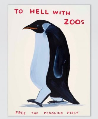 Private Sales - David Shrigley - To Hell With Zoos - 2021