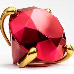 Jeff Koons sculpture - Diamond (Red)