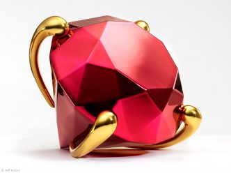 Jeff Koons - Diamond (Red) - 2020