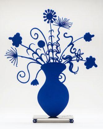 Kenny Scharf - Flores Blue - 2021