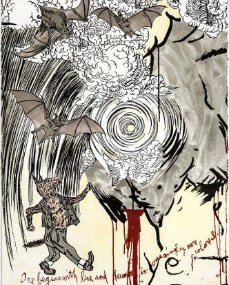 Marcel Dzama and Raymond Pettibon - Untitled - 2021