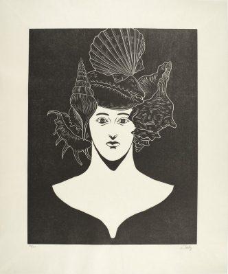 Nicolas Party - Portrait with Shells - 2021