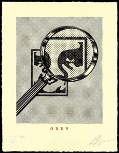Shepard Fairey - OBEY MAGNIFYING GLASS (Cream) - 2021