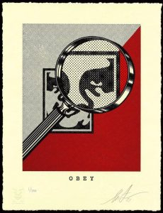 Shepard Fairey - OBEY MAGNIFYING GLASS (Red) - 2021