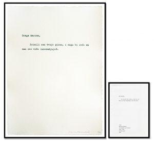Marina Abramović - Untitled (100 letters - 100 Pisama) - 2008
