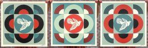 Shepard Fairey - Geometric Doves - 2021
