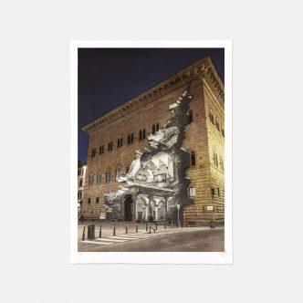 JR -La Ferita, 25 Mars 2021, 19h07, Palazzo Strozzi, Florence, Italie, 2021 - 2021