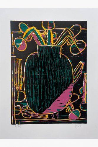 Tal R - Blomster Uden Titel (Woodcut) - 2021