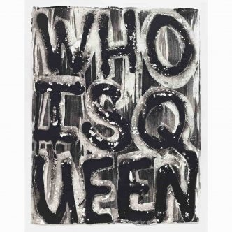 Adam Pendleton - Untitled (WHO IS QUEEN?) - 2021