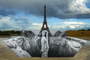 Trompe l'oeil, Les Falaises du Trocadéro, 18 mai 2021, 19h58,Paris, France, 2021 - 2021