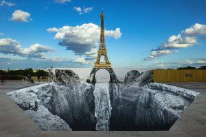 Trompe l'oeil, Les Falaises du Trocadéro, 19 mai 2021, 19h57, Paris, France, 2021