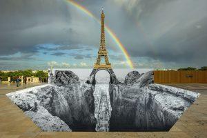 Trompe l'oeil, Les Falaises du Trocadéro, 21 mai 2021, 20h03, Paris, France, 2021 - 2021