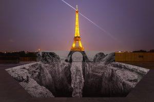 Trompe l'oeil, Les Falaises du Trocadéro, 25 mai 2021, 22h18, Paris, France, 2021 - 2021