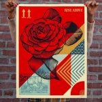 Shepard Fairey - Rise Above Flower